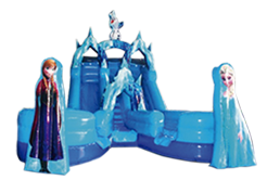 Frozen juego inflable acuático
