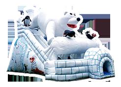 Osito Polar juego inflable