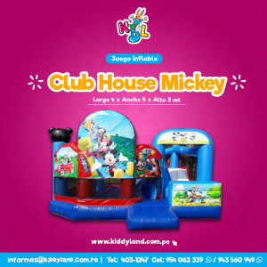 Club house mickey Juego Inflable Peru