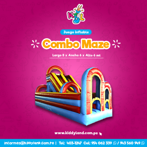Combo maze Juego Inflable Peru