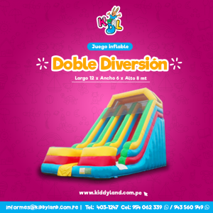 Doble diversion Juego Inflable Peru