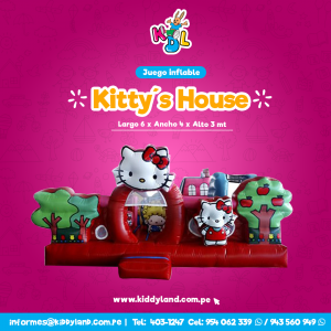 Kittys house Juego Inflable Peru