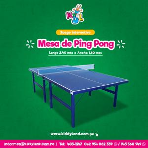 Mesa de Ping Pong Juego Interactivo Perú