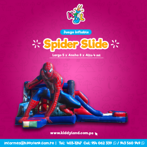 Spider silde Juego Inflable Peru